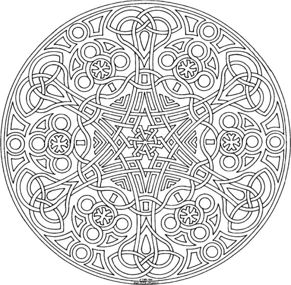 mandala colouring