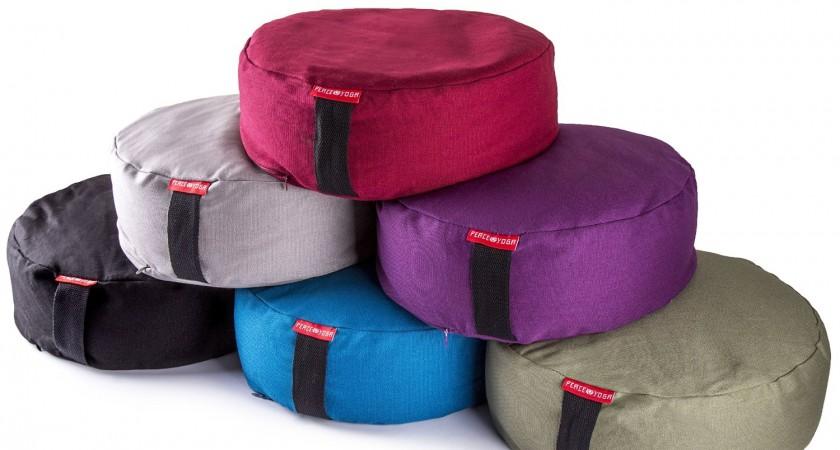 Peace Yoga Zafu Meditation Yoga Buckwheat Filled Cotton Bolster Pillow Cushion